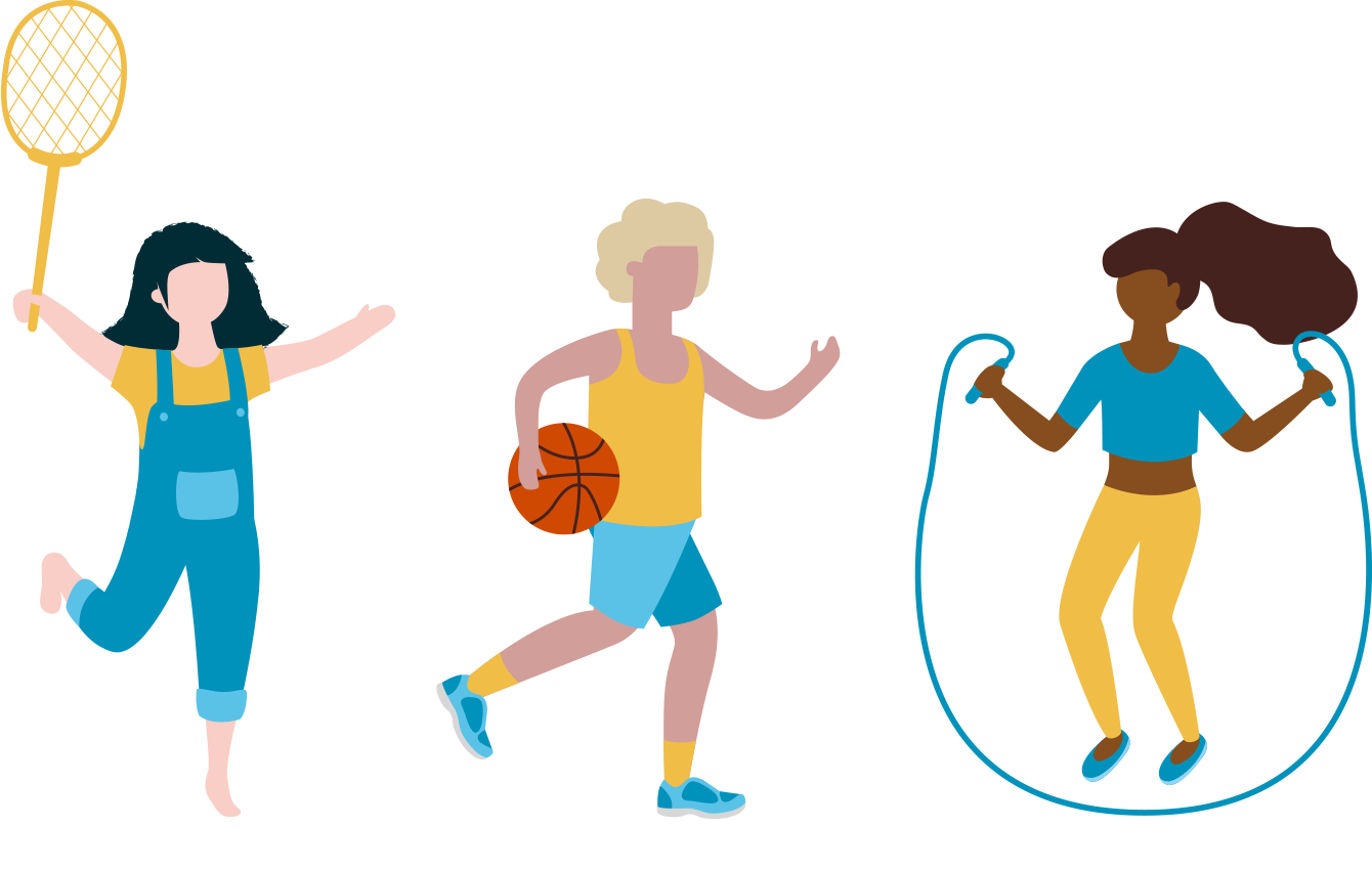 Healthy Kids Illustration
